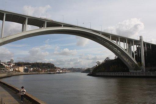River, Bridge, Architecture, City, Lights, Landscape