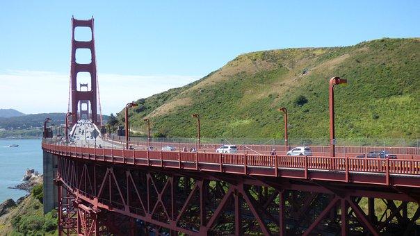 Bridge, San Francisco, Golden Gate, Road