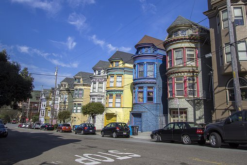 San Francisco, Houses, City, California, Architecture