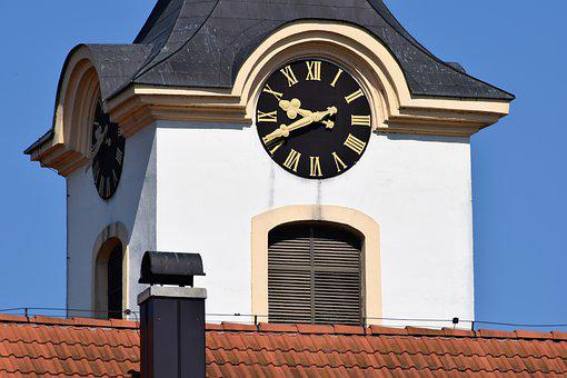 Church Clock, Time, Old, Arhitecture, Catholic