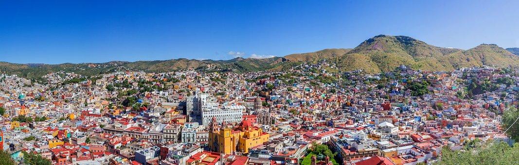 Panoramic, Guanajuato, Color, Mexico, Mexican, Colorful