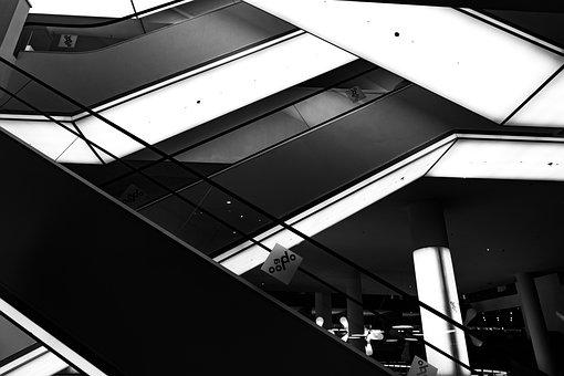 Amsterdam, Library, Building, Interior, Escalator
