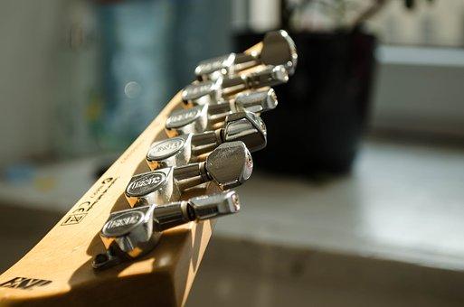 Guitar, Head, Keys, Instrument, Setting
