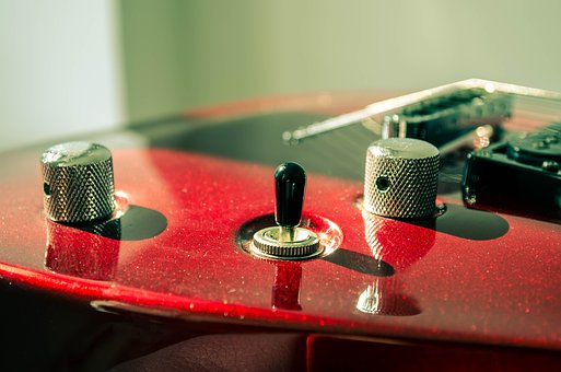 Guitar, Switches, Spinner, Rotary, Potentiometer