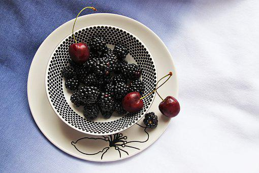 Low Calorie, Bio, Fruit, Detox, Blackberries, Eat