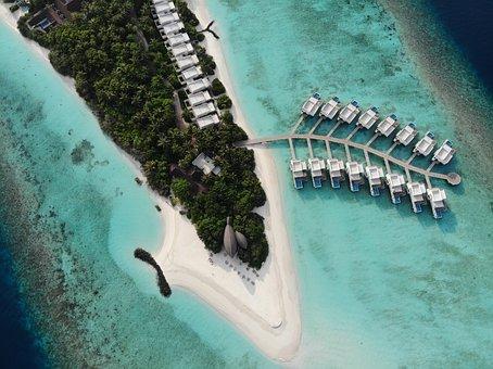 Drone, Maldives, Resort, Holiday, Honeymoon, Travel