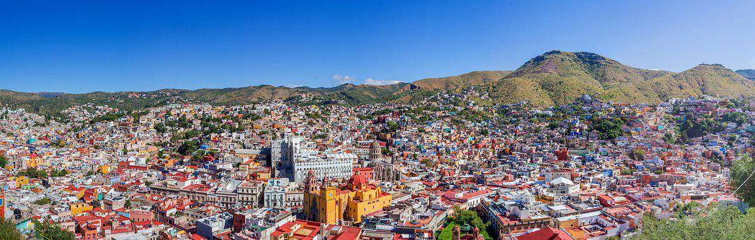 Panoramic, Guanajuato, Color, Mexico, Mexican, Colorful