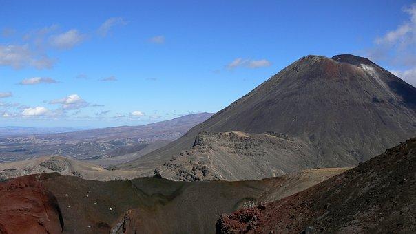 New Zealand, Volcano, Mount Ngauruhoe, Nature