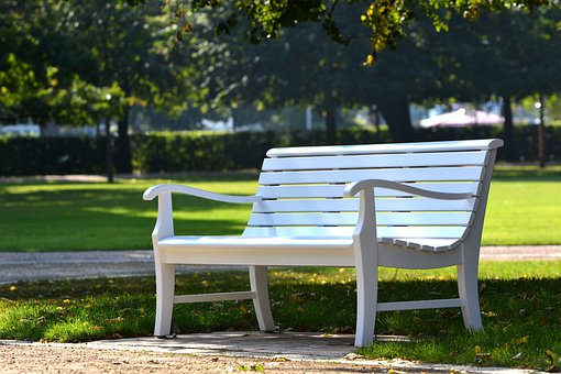 Park, Bank, Sit, Park Bench, Pair, Nature, Think, Human