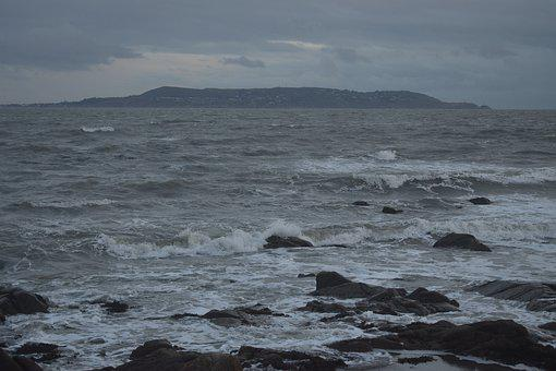 Stormy, Sea, Ocean, Choppy, Sky, Clouds, Nature