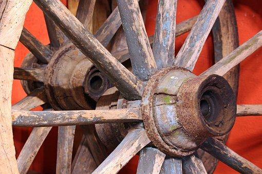 Wooden Wheel, Old Wooden Wheel, Nostalgia, Wood