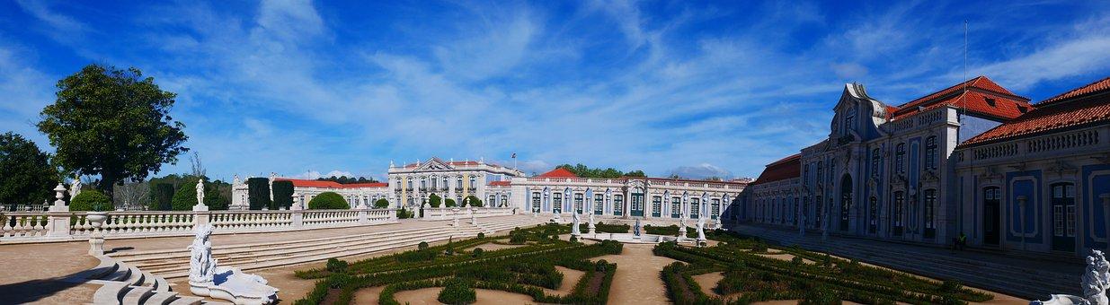 Portugal, Queluz, Palace, Gardens, Architecture