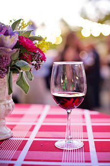 Glass Of Wine, Red, Wine, Goblet, Drink, Alcohol
