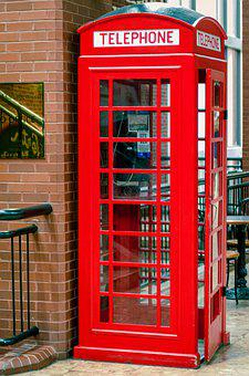 Telephone Booth, Red, Phone, Communication, Booth