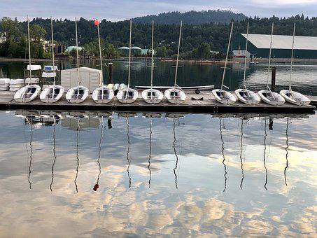 Canada, Bc, Port Moody, Vancouver, Inlet, Rockey Point