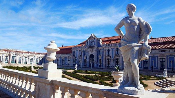 Portugal, Queluz, Castle, Rococo, Historically, Garden