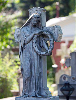 Sculpture, Statue, Stone, The Grave, Cemetery