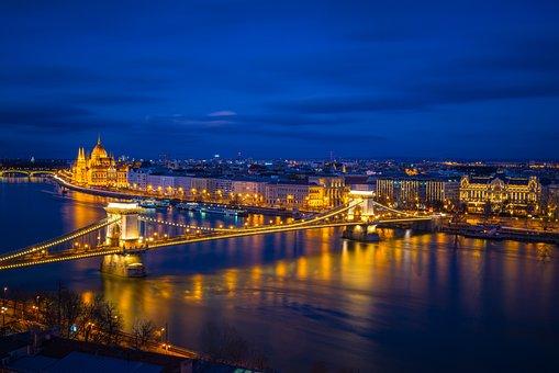 River, Reflection, Water, Landscape, City, Scenic, Sky
