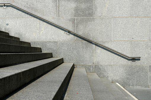 Stairs, Geometry, Abstract, Railing, Perspective, City
