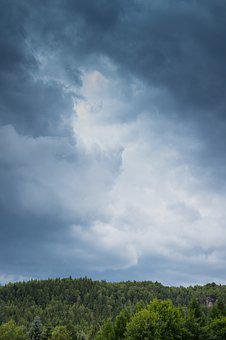 Weather, Clouds, Forest, Sky, Nature, Air, Forward