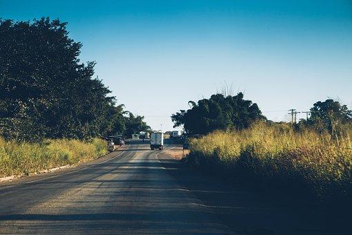 The Br-153, The Highway, Asphalt, Transport, Road