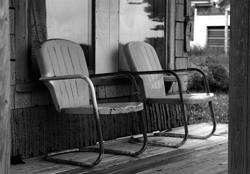 Camp Chairs, Pouch, Black And White, Store Front