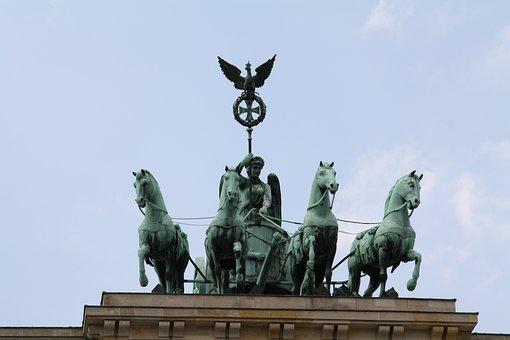 Berlin, Quadriga, Landmark, Brandenburg Gate