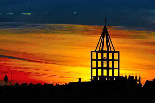 Sunset, Tower, Architecture, City, Building, Urban