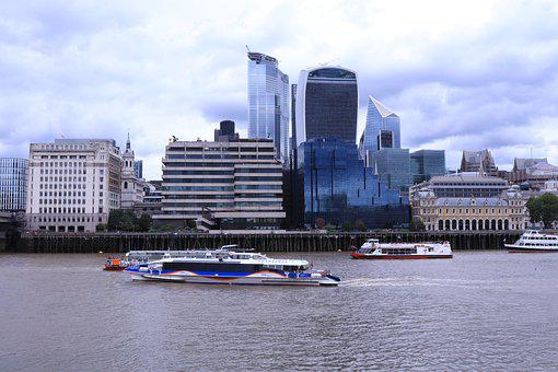London, Business Centre, Thames, River, Building