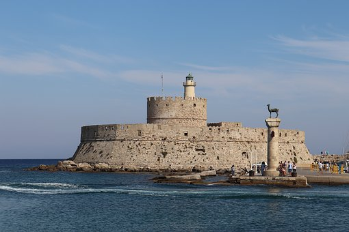 Rhodes, Castle, Greece, Architecture, Fortress, History