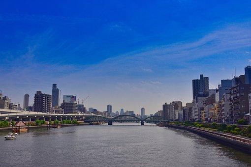 Tokyo, Japan, City, Tourism, River, Cityscape, Water