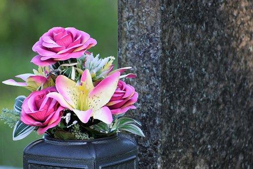 Artificial Flowers, Vase, Decoration, Remembering