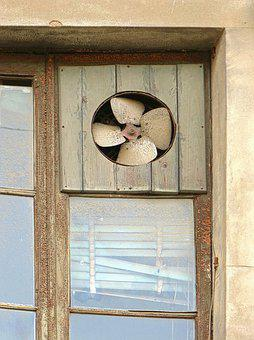 Window, Old, Vintage, Fan, Extractor, Abandoned
