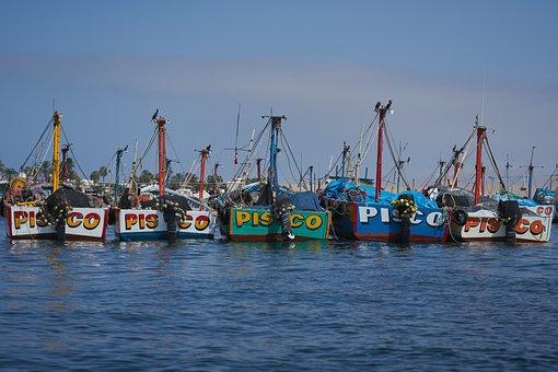 Fishing Boats, Sea, Port, Fishing, Boats, Pisco, Peru