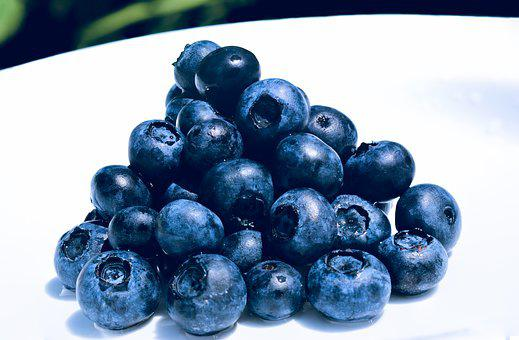 Blueberries, Stack, Fresh, Fruit, Food, Delicious