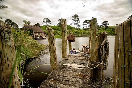 Hobbiton, Hobbit, New Zealand, Nature, Matamata, Garden