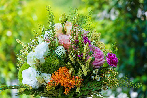 Bouquet, Colorful, Flowers, Give, Nature, Mixed, Out