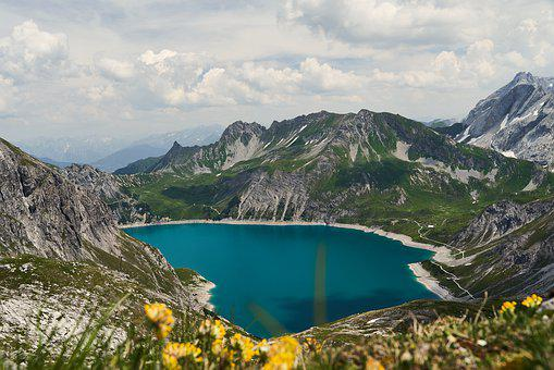 Luenersee, Hiking, Landscape, Mountains, Bergsee