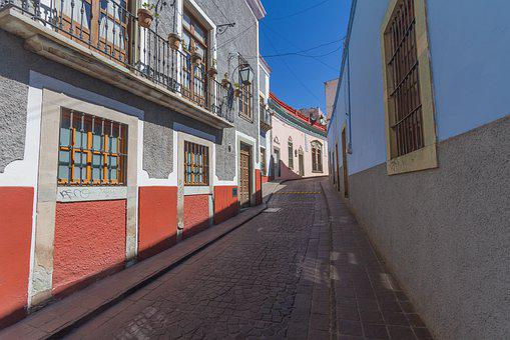 Street, Color, Mexico, Urban, Mexican, Architecture