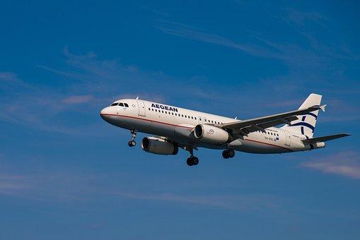 Airplaine, Plane, Blue, Aircraft, Flight, Jet, Flying