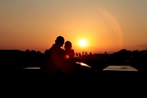 Love, Couple, Sunset, Romance, Romantic, Relationship