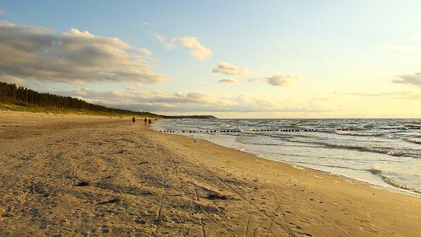 Beach, The Baltic Sea, Sea, Sand, Sky, Water, The Coast