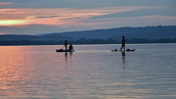 Standup Paddle, Leisure, Lake, Water, Relaxation