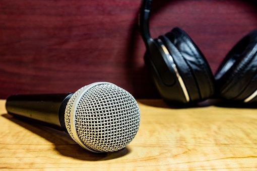 Microphone, Audio, Headphones, Studio, Radio, Voice