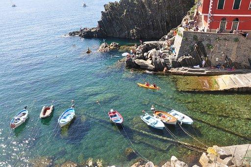 Boats, Bay, Mediterriane, Summer, Sunny Day, Italy