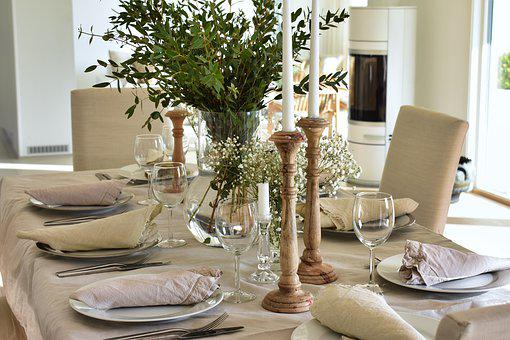 Dinner, Table, Dining, Dinner Party, Table Setting