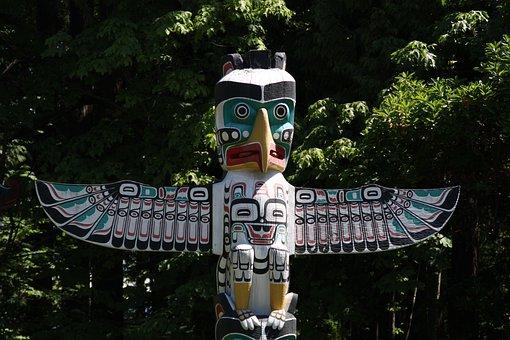 Totem Pole, Canada, Vancouver, Stanley Park, Indians
