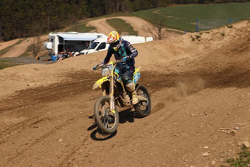 Motocross, 125ccm, While, Dirtbike, Training, Speed