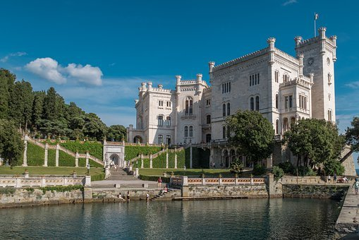 Castle, Italy, Trieste, Architecture, Tourism, Travel