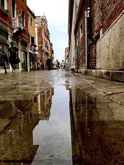 Wet Alley, Wet, Italy, Alley, Venice